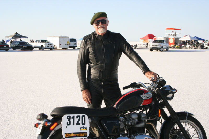 Clement Salvadori at Bonneville Salt Flats